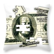 Dollar Puzzle-2 Throw Pillow