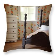 Dollhouse Bedroom Throw Pillow