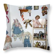 Dolls And Such Throw Pillow