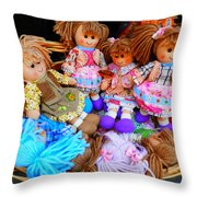 Dolls For Sale 1 Throw Pillow