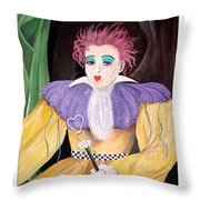 Dollydoll Of Hearts Throw Pillow