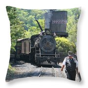 Dollywood 2-8-2 Number 70 Throw Pillow