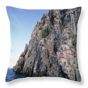 Dolomite Cliff With Guillemot Colony Throw Pillow