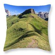 Dolomites - Crepa Neigra Throw Pillow