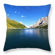 Dolomites - Fedaia Lake  Throw Pillow