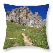 Dolomites - Gran Cir Throw Pillow