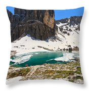 Dolomites - Pisciadu' Peak Throw Pillow
