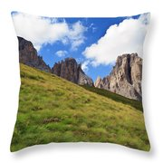 Dolomites On Summer Throw Pillow