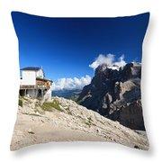 Dolomites -pale San Martino Group Throw Pillow