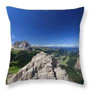 Dolomiti - Alta Val Gardena Throw Pillow
