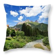 Dolomiti - Avisio Stream Throw Pillow