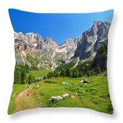 Dolomiti - Contrin Valley Throw Pillow