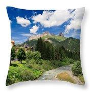 Dolomiti - Fassa Valley Throw Pillow