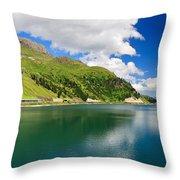 Dolomiti - Fedaia Lake Throw Pillow
