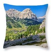 Dolomiti - High Badia Valley Throw Pillow