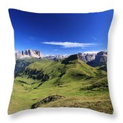 Dolomiti - High Fassa Valley Throw Pillow