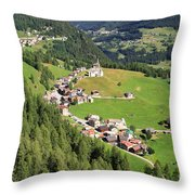 Dolomiti - Laste Village Throw Pillow