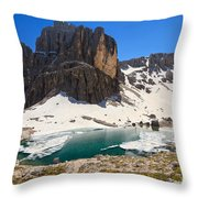Dolomiti - Pisciadu Lake Throw Pillow