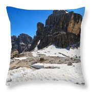 Dolomiti - Pisciadu Peak Throw Pillow
