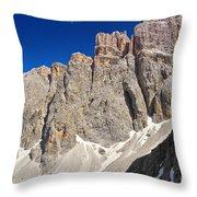 Dolomiti - Piz Da Lech Throw Pillow