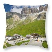Dolomiti - Pordoi Pass Throw Pillow