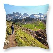 Dolomiti - Trekking In Val Ldi Fassa Throw Pillow