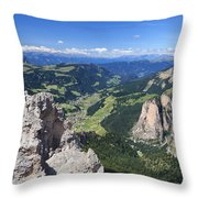 Dolomiti - Val Gardena Throw Pillow