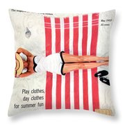 Dolores Hawkins On A Beach Throw Pillow