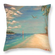 Dolphin Bay Throw Pillow by The Beach  Dreamer