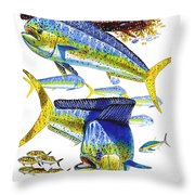 Dolphin In Weedline Throw Pillow