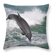 Dolphin Leap Throw Pillow