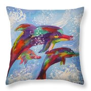 Dolphin Playjourney Throw Pillow
