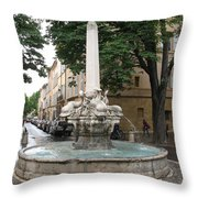 Dolphinfountain - Aix En Provence Throw Pillow