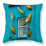 Dolphins At The Window Throw Pillow