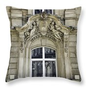Dom Hotel Balcony Window Cologne Germany Throw Pillow