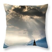 Domaso Sunrays Throw Pillow by Jeffrey Teeselink