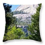 Dome Next To Half Dome Seen From Yosemite Valley-2013 Throw Pillow