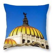 Dome Of Palacio De Las Bellas Artes Throw Pillow