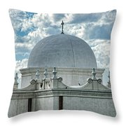 Dome Of San Xavier - Tucson Az Throw Pillow
