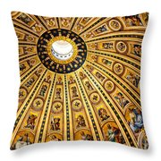Dome Of St Peter's Basilica Vatican City Italy Throw Pillow