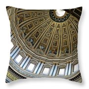Dome Of St. Peter's Rome Throw Pillow