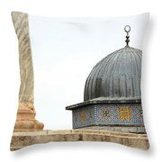 Dome Of The Rock Close Up Throw Pillow