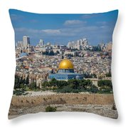 Dome Of The Rock In Jerusalem Throw Pillow