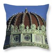 Dome Top Of Carousel House Asbury Park Nj Throw Pillow