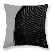 Domed Lattice Throw Pillow