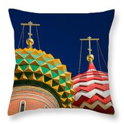 Domes Of Vasily The Blessed Cathedral - Feature 3 Throw Pillow
