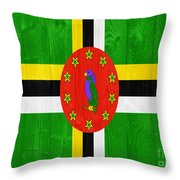 Dominica Flag Throw Pillow