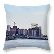 Domino Sugars - Baltimore Maryland Throw Pillow