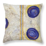 Domino Three Abstract Throw Pillow