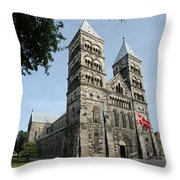Domkyrkan Lund Se A 03 Throw Pillow